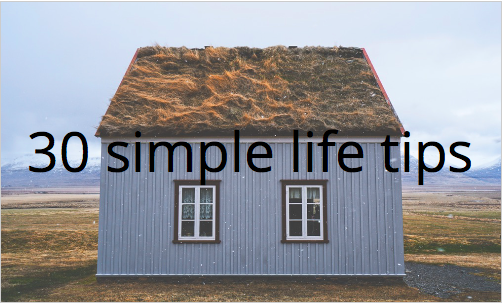 30 simple life hints