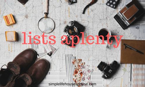 lists aplenty