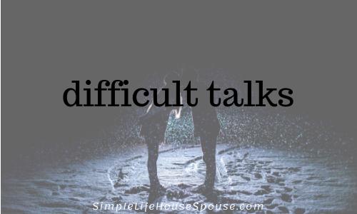 difficult talks