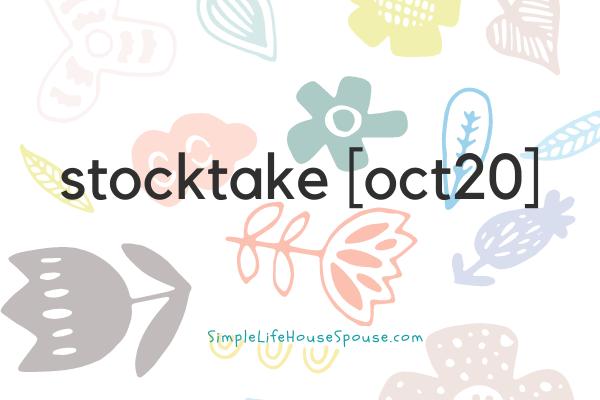 stocktake [oct20]
